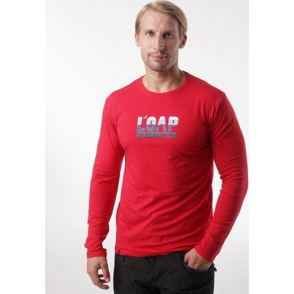 Pánské bavlněné triko LOAP Albi červená