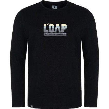 Pánské bavlněné triko LOAP Albi černá