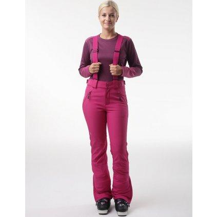 Dámské softshellové kalhoty LOAP Lya růžová