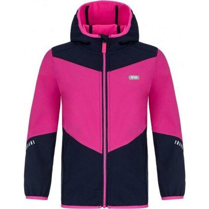 Dětská softshellová bunda LOAP Lopi růžová