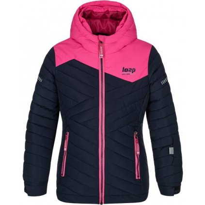 Dětská lyžařská bunda LOAP Fureta modrá/růžová