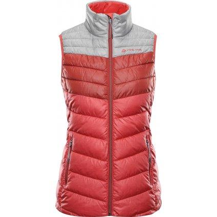 Dámská zateplená vesta ALPINE PRO Minika červená