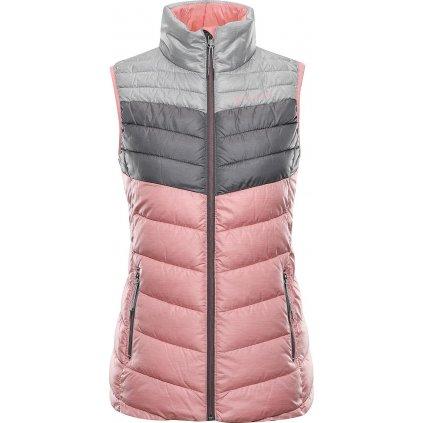 Dámská zateplená vesta ALPINE PRO Minika růžová