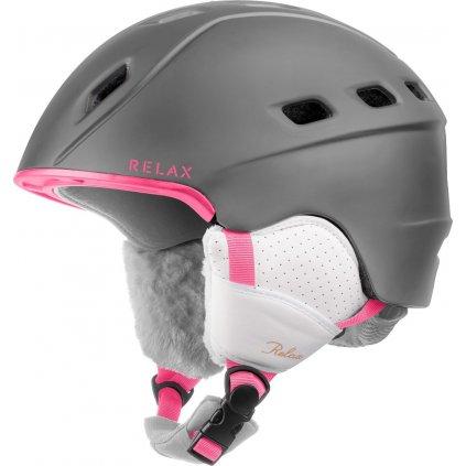 Lyžařská helma RELAX Polar šedá