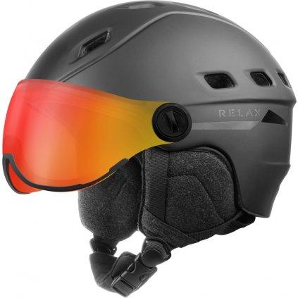 Lyžařská helma RELAX Polar Visor černá