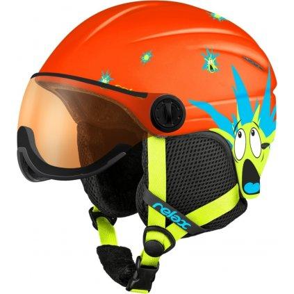 Dětská lyžařská helma RELAX Twister Visor oranžová