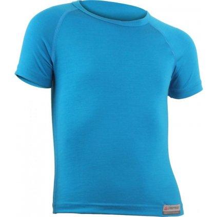 Dětské merino triko LASTING Hary modré