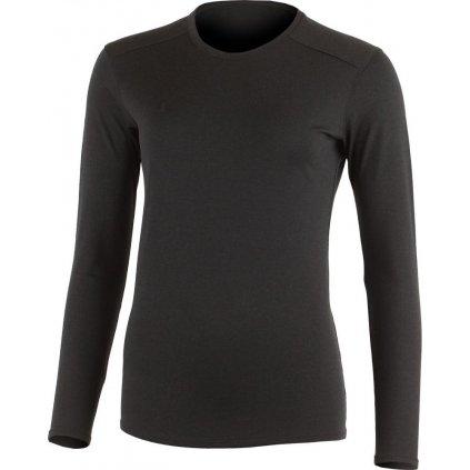Dámské merino triko LASTING Lada černé