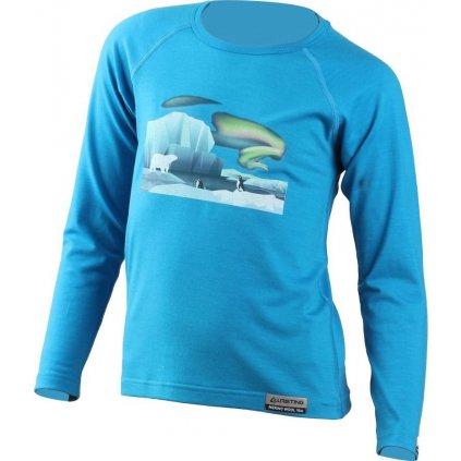 Dětské merino triko LASTING Polar modré