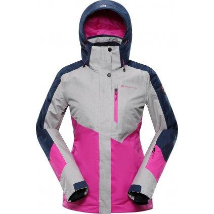 Dámská lyžařská bunda ALPINE PRO Sardara 4 růžová/šedá
