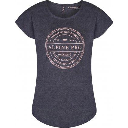 Dámské triko ALPINE PRO Maila šedá