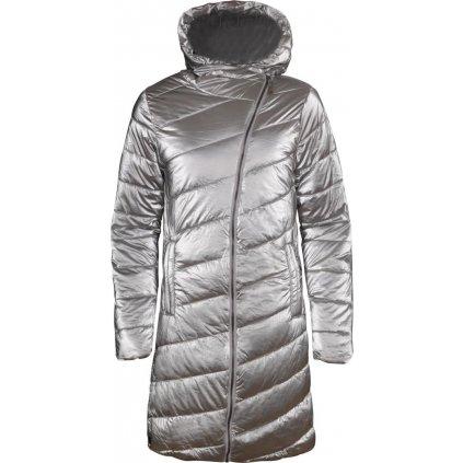 Dámský zimní kabát ALPINE PRO Omega 4 stříbrná