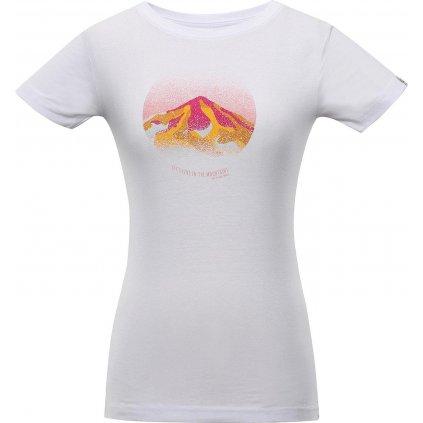 Dámské bavlněné triko ALPINE PRO Tiana bílá