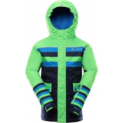 Dětská lyžařská bunda ALPINE PRO Intko 2 zelená