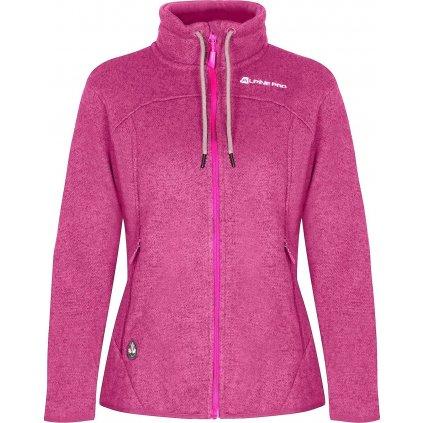 Dámský fleecový svetr ALPINE PRO Hoba 3 růžová