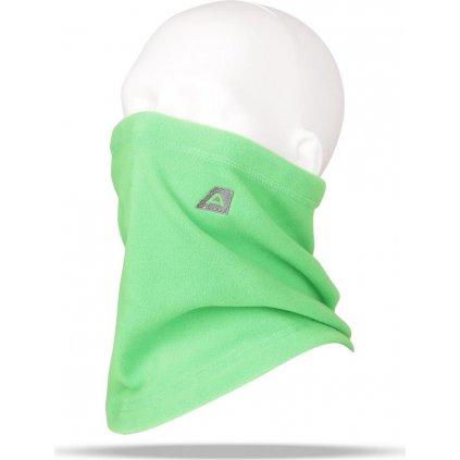 Fleecový nákrčník ALPINE PRO Achille zelená