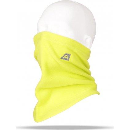 Fleecový nákrčník ALPINE PRO Achille žlutá