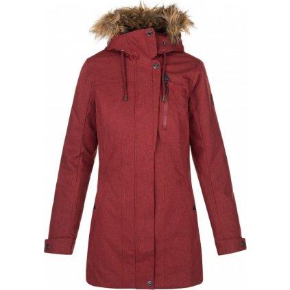 Dámský zimní kabát KILPI Peru-w tmavě červená