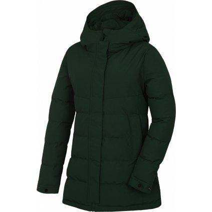 Dámský hardshell plněný kabátek HUSKY Nilit L tm. zelená