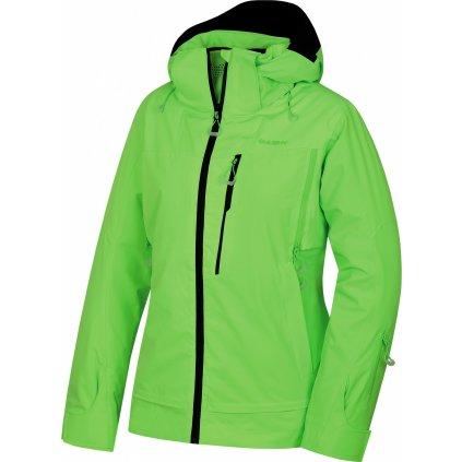 Dámská lyžařská bunda HUSKY Montry L neonově zelená
