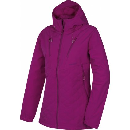 Dámská softshellová bunda HUSKY Salex L tm. neonová purpurová