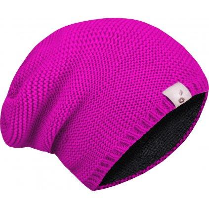Dětská čepice UNUO pletená, Fuchsiová