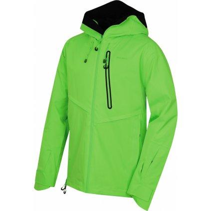 Pánská lyžařská bunda HUSKY Mistral M neonově zelená