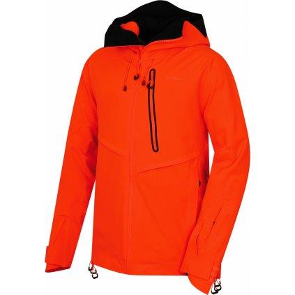 Pánská lyžařská bunda HUSKY Mistral M neonově oranžová