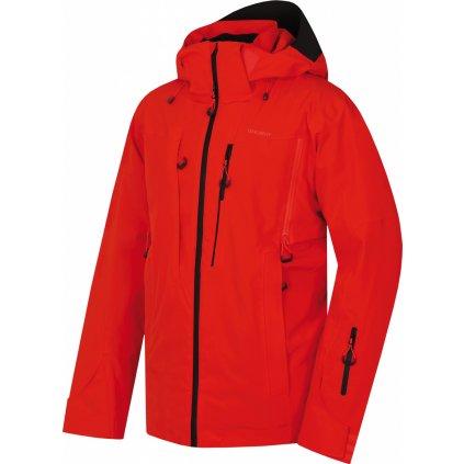 Pánská lyžařská bunda   Montry M výrazná cihlová