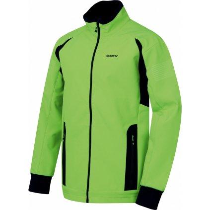 Pánská softshellová bunda HUSKY Scooby M neonově zelená