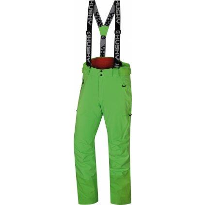 Pánské lyžařské kalhoty HUSKY Mitaly M neonově zelená