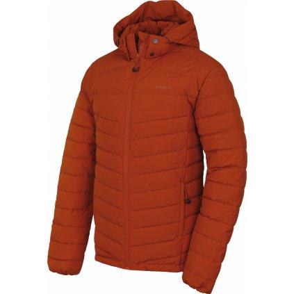 Pánská péřová bunda HUSKY Donnie M oranžovohnědá