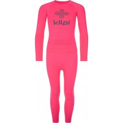 Dětský set funkčního prádla KILPI Caroline-jg růžová