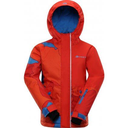 Dětská lyžařská bunda ALPINE PRO Intko červená