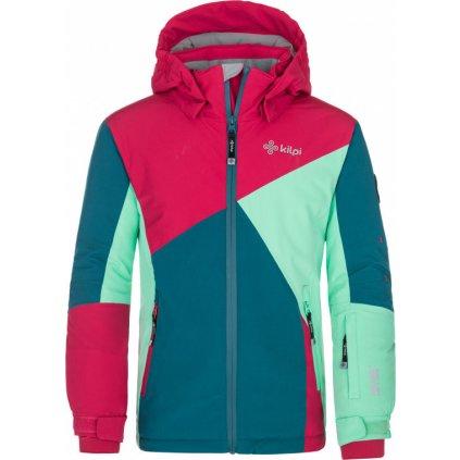 Dívčí lyžařská bunda KILPI Saara-jg tyrkysová