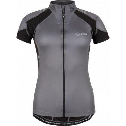 Dámský cyklistický dres KILPI Flash-w šedá