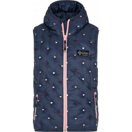 Dívčí zimní vesta KILPI Tomm-jg tmavě modrá