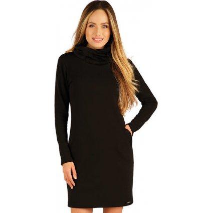 Dámské mikinové šaty LITEX černé