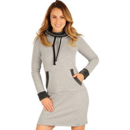 Dámské mikinové šaty LITEX šedé