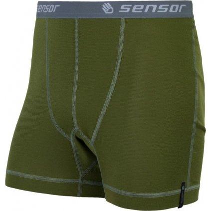 Pánské funkční boxerky SENSOR Double Face deep zelená