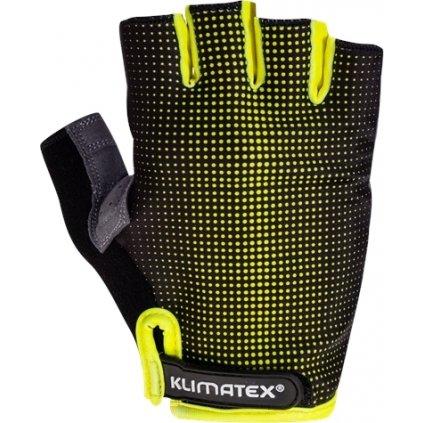 Cyklistické rukavice KLIMATEX Rieli žlutá
