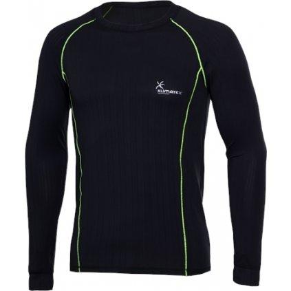 Pánské funkční triko KLIMATEX Krystof černá/zelená