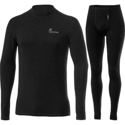 Pánský set zimního prádla KLIMATEX Calum černá