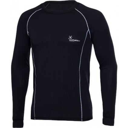 Pánské funkční triko KLIMATEX Krystof černá/bílá