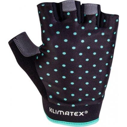 Cyklistické rukavice KLIMATEX Trixi černá/tyrkysová