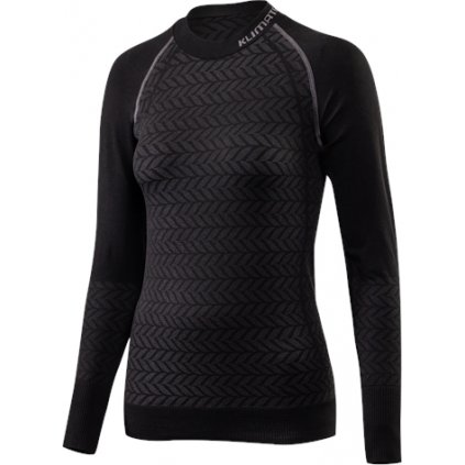 Dámské bezešvé triko KLIMATEX Portola černá