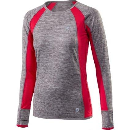 Dámské běžecké triko KLIMATEX Dorina šedá
