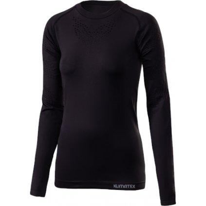 Dámské bezešvé triko KLIMATEX Piggi černá