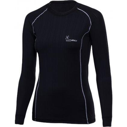 Dámské funkční triko KLIMATEX Jolana černá/bílá