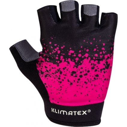 Cyklistické rukavice KLIMATEX Mae černá/růžová